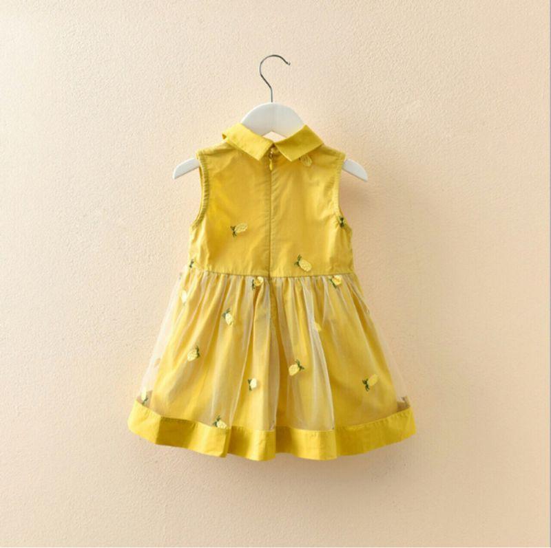 Váy thô mềm cổ đức phối voan lưới thêu hình quả dứa giá sỉ, giá bán buôn