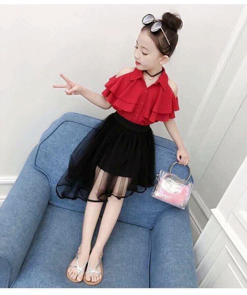 set váy size đại cho bé gái