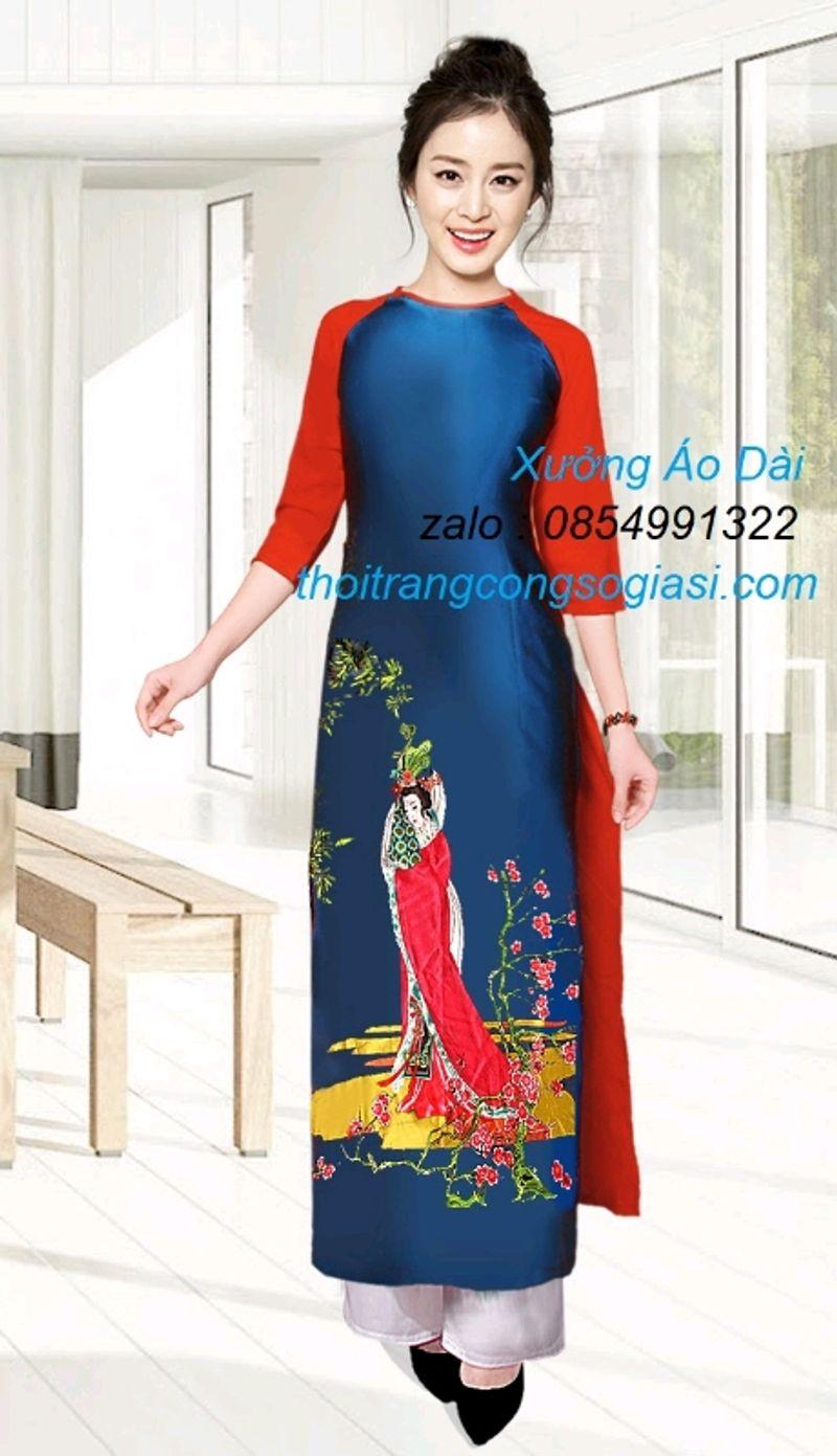 áo dài truyền thống lụa cô tiên giá sỉ, giá bán buôn