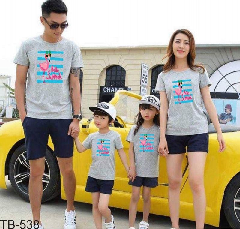 áo thun gia đình new C43 giá sỉ, giá bán buôn