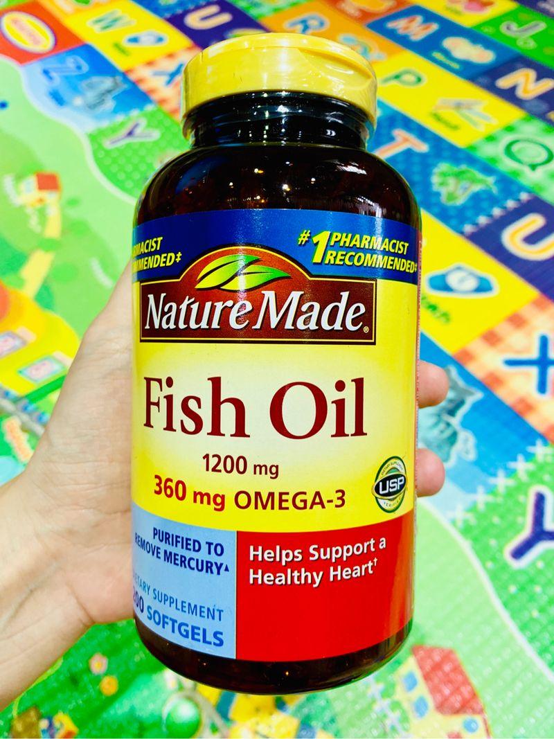Viên uống dầu cá Fish Oil 1200mg 200 viên hàng air Mỹ giá sỉ, giá bán buôn
