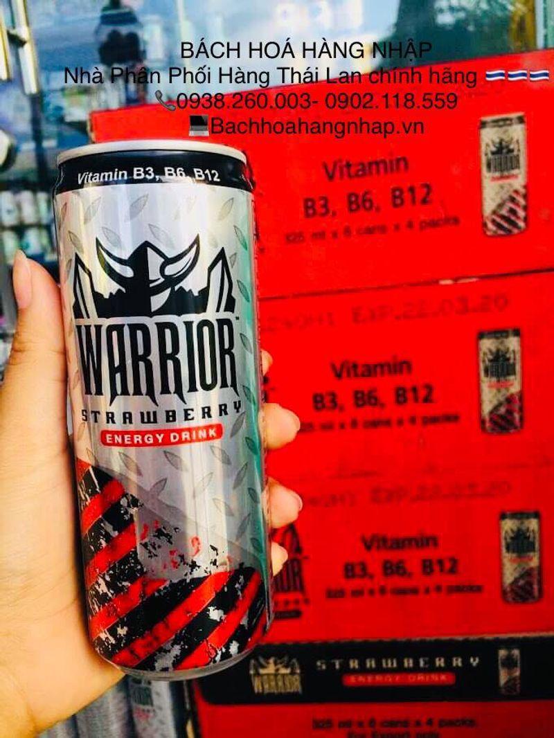Nước tăng lực Warrior dâu 325ml Thái Lan Sting Thái giá sỉ, giá bán buôn
