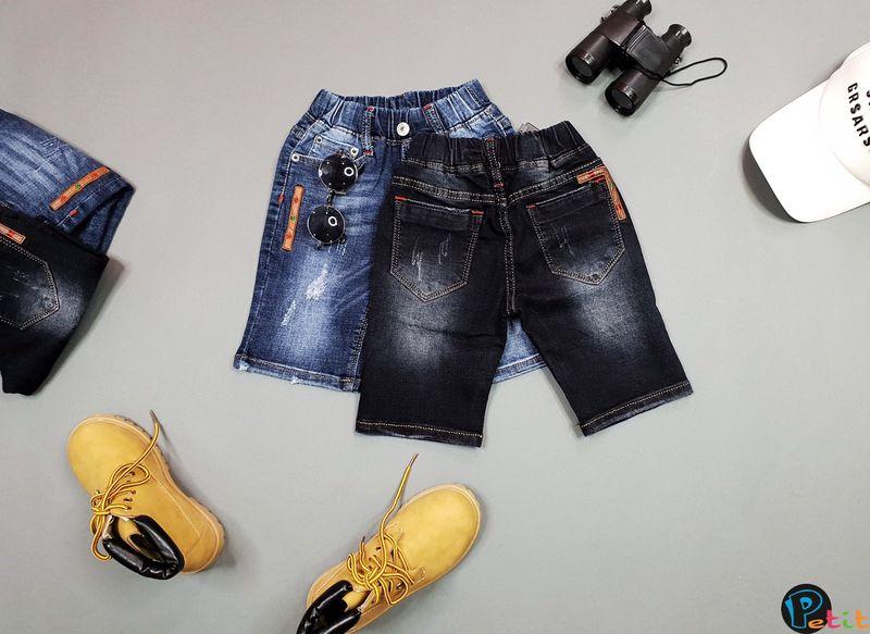 quần jean short siêu chất bé trai giá sỉ tphcm