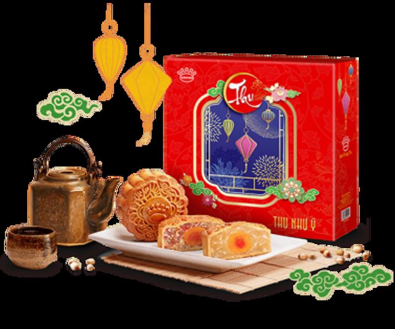 Vạn Cổ Công Thành - Bánh Trung thu Kinh đô hộp 4 bánh giá sỉ, giá bán buôn