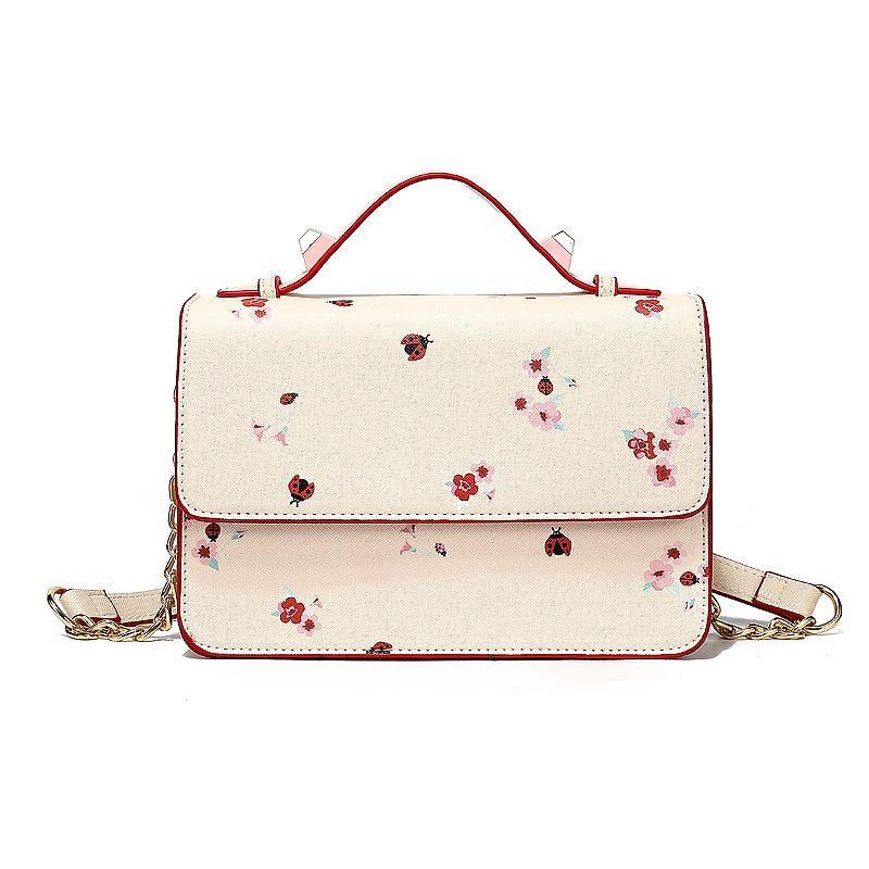 Túi đeo chéo nữ in hoa chất da cao cấp hàng Quảng Châu giá sỉ, giá bán buôn