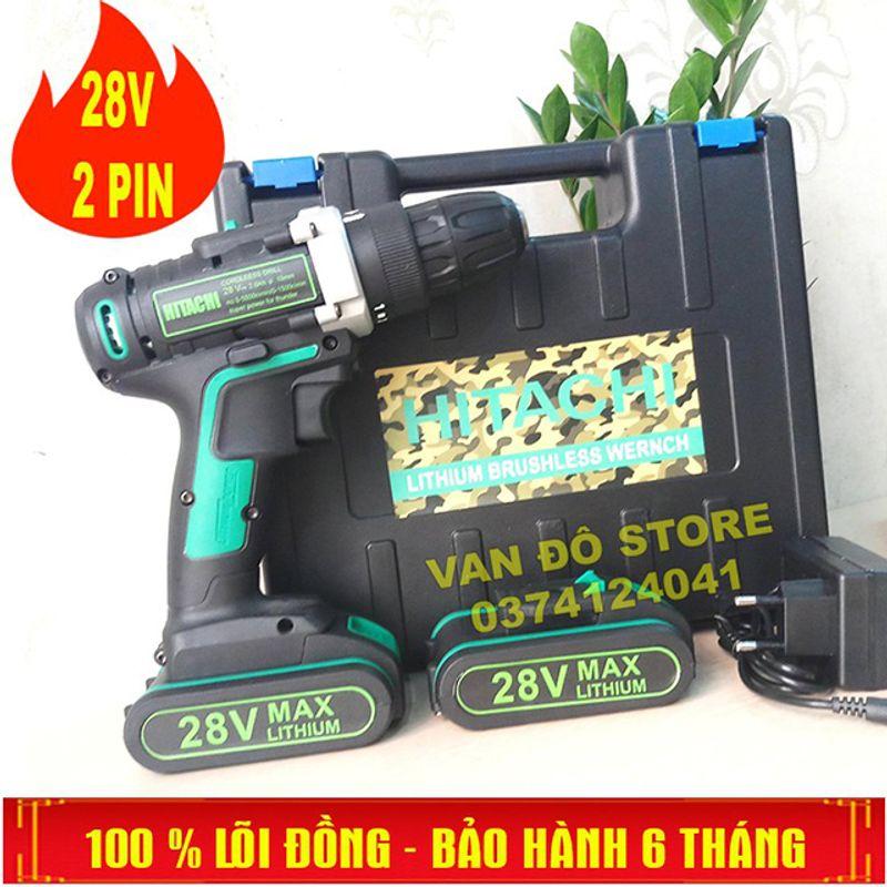 MÁY KHOAN HITACHI PIN 28V giá sỉ, giá bán buôn