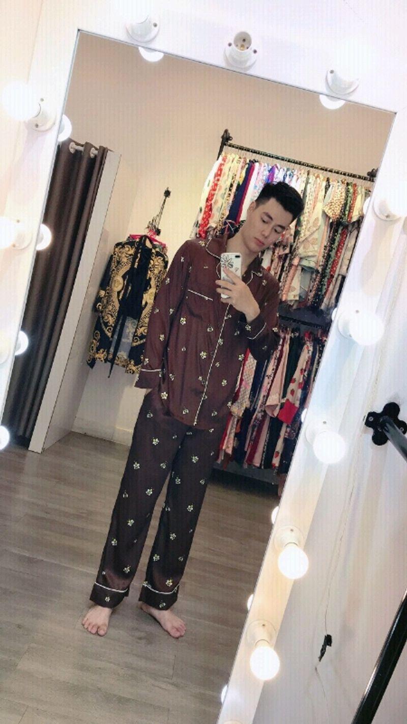đồ bộ pijama mặc nhà nam lụa QC cao cấp giá sỉ, giá bán buôn