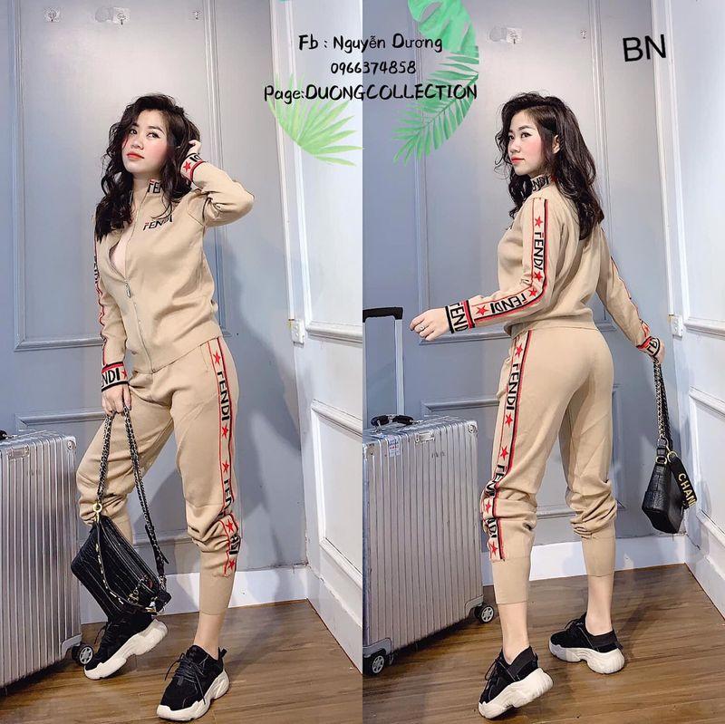 set bộ đồ nữ đẹp chất cá tính dễ thương giá rẻ thể thao kéo khóa Fen BN 48510 giá sỉ, giá bán buôn