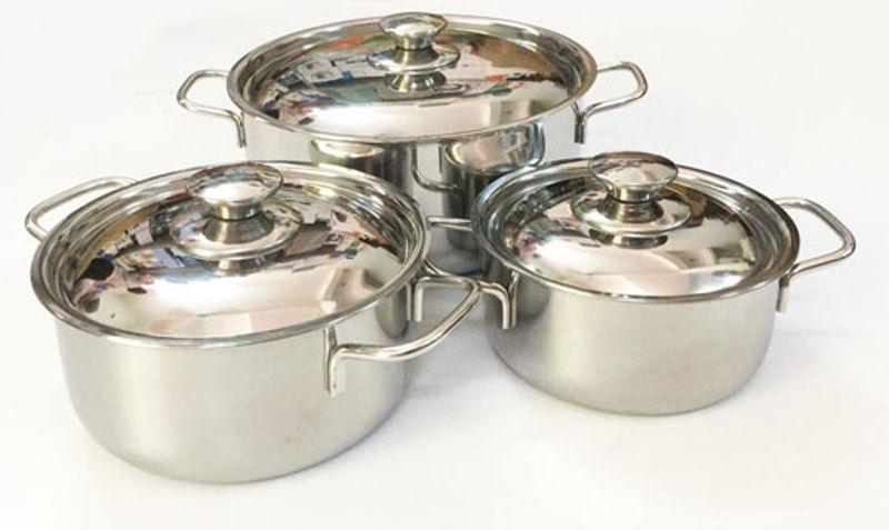 Bộ 3 nồi inox Sharp cho bếp từ giá sỉ, giá bán buôn