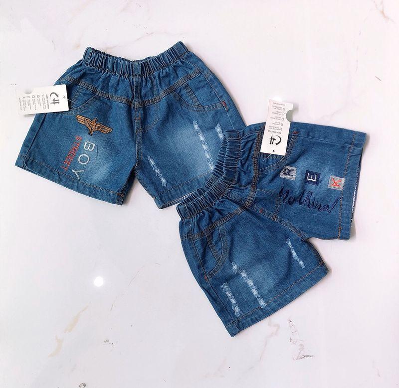 Quần short jeans bé trai size trung