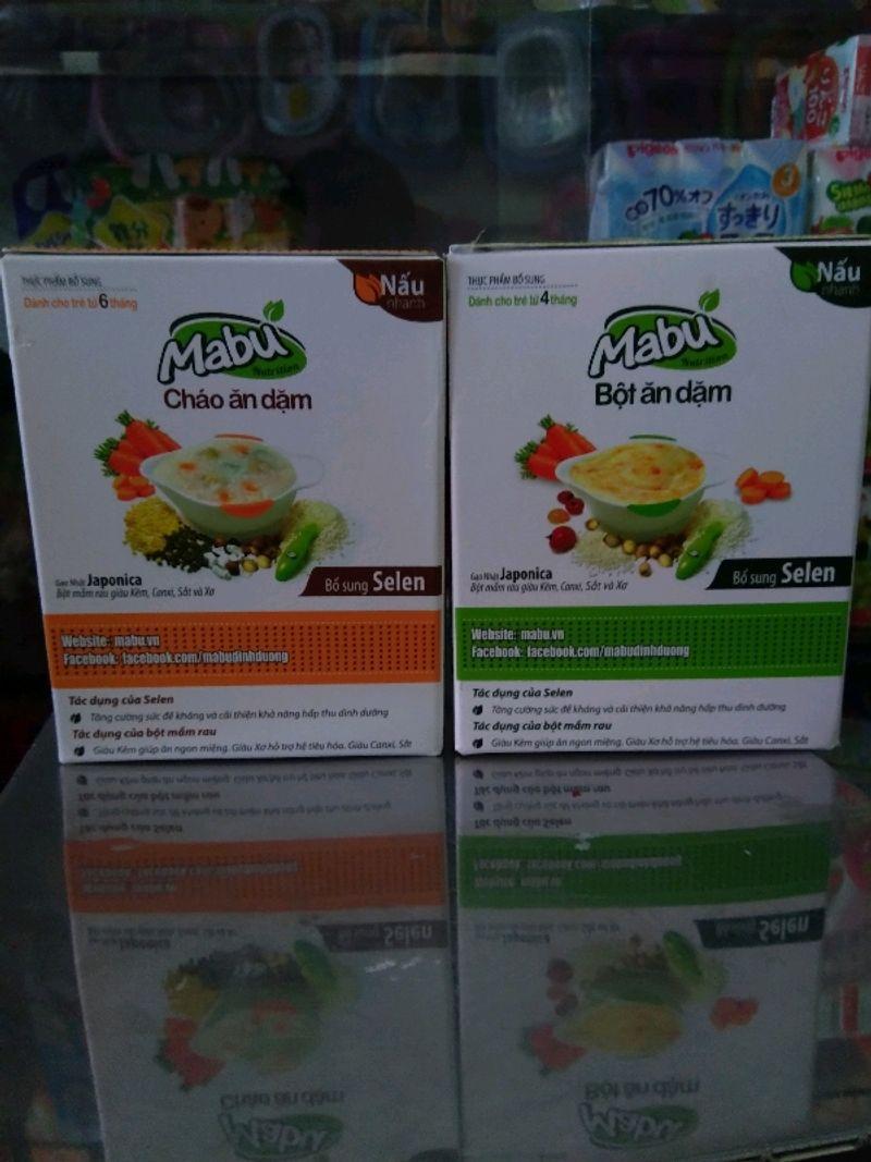 bột ăn dặm Mabu 400g 3 loại bột mịn cháo gạo vỡ nguyên hạt giá sỉ, giá bán buôn