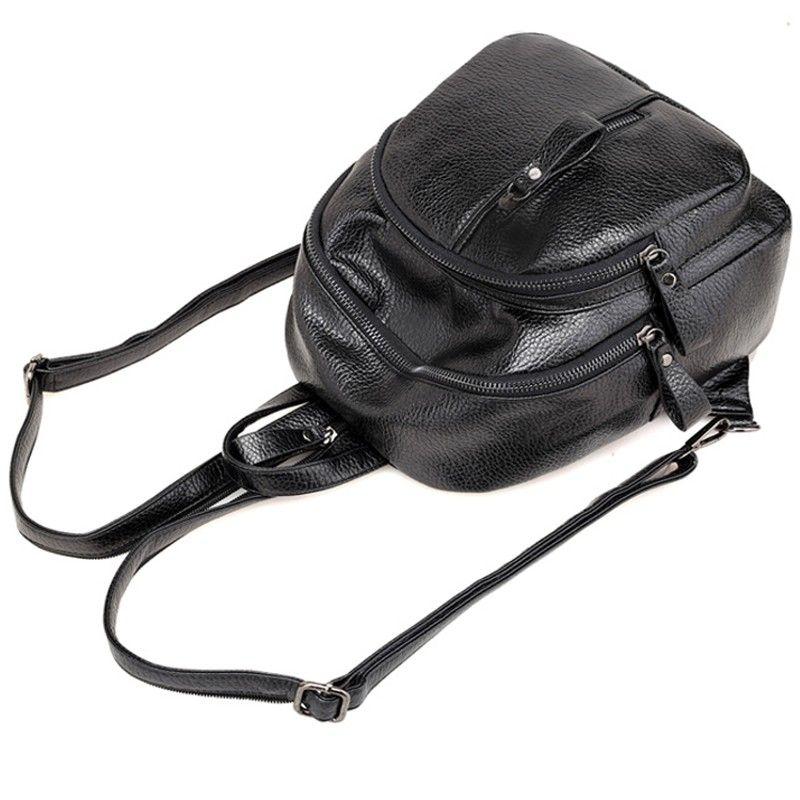 Balo nữ mini da mềm màu đen cá tính D1294 giá sỉ, giá bán buôn