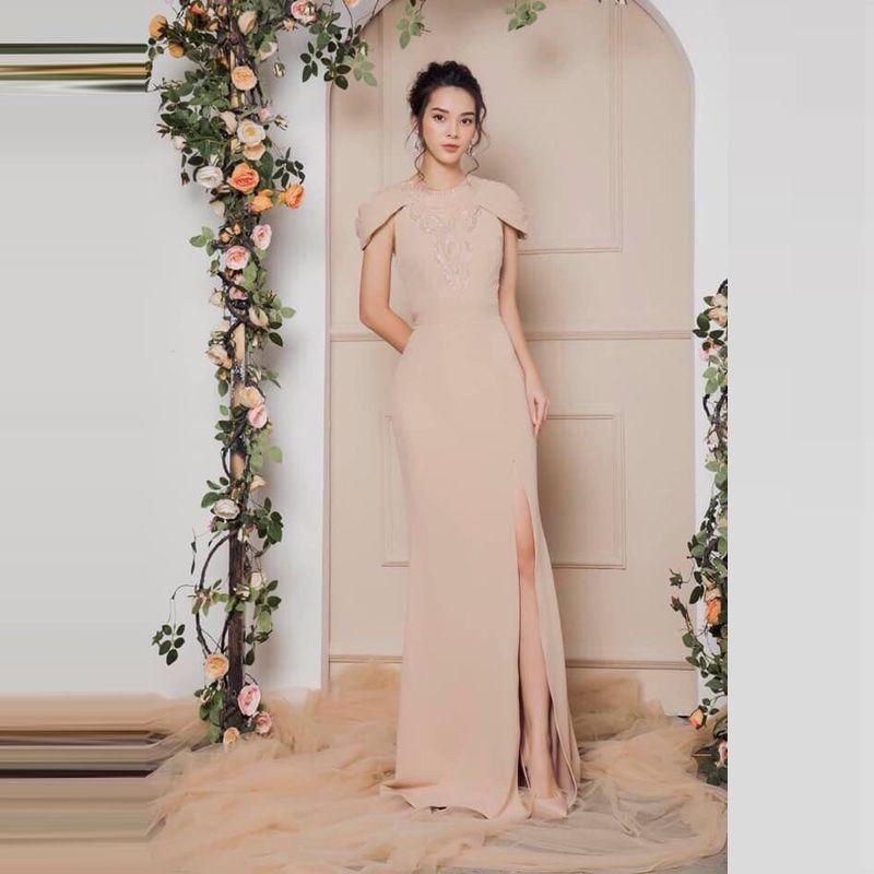 Đầm Dạ Hội Đính Ngọc Tay Xếp Ly Cao Cấp giá sỉ, giá bán buôn - Malanaz Shopping
