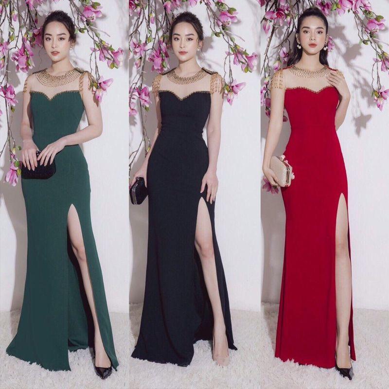 Đầm Dạ Hội Hoàng Gia Xẻ Tà Cao Cấp giá sỉ, giá bán buôn
