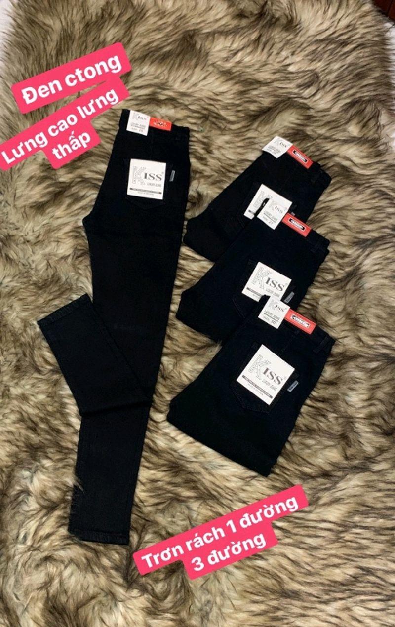 Quần jean nữ đen giá sỉ, giá bán buôn