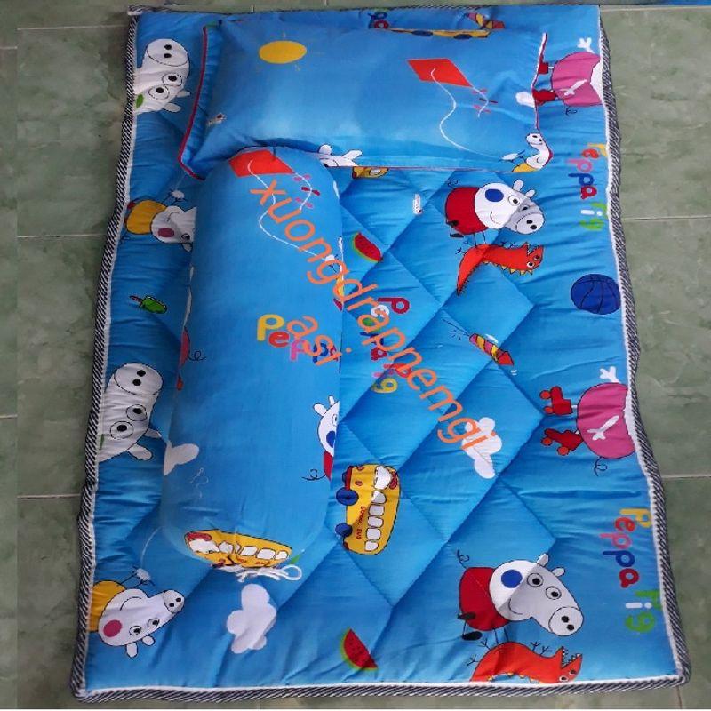 Bộ gối nệm cho vải coton thắng lợi cho bé đi học giá sỉ, giá bán buôn