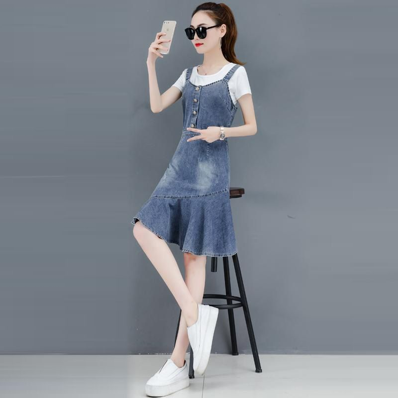 Đầm Jean Yếm Đuôi Cá Kiểu giá sỉ, giá bán buôn