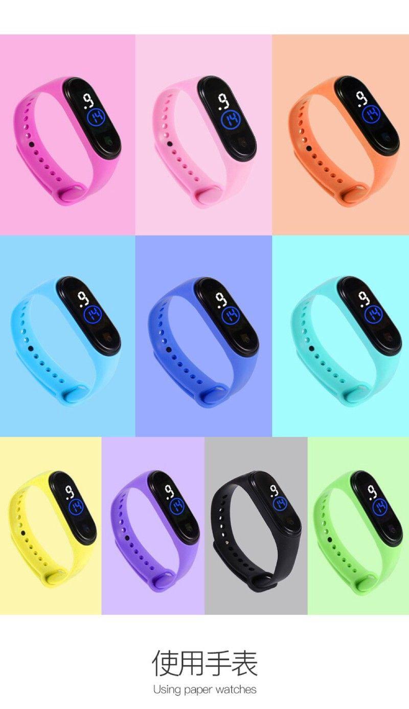 Đồng hồ thể thao unisex đèn led dây silicon chống nước tốt mẫu mới hot