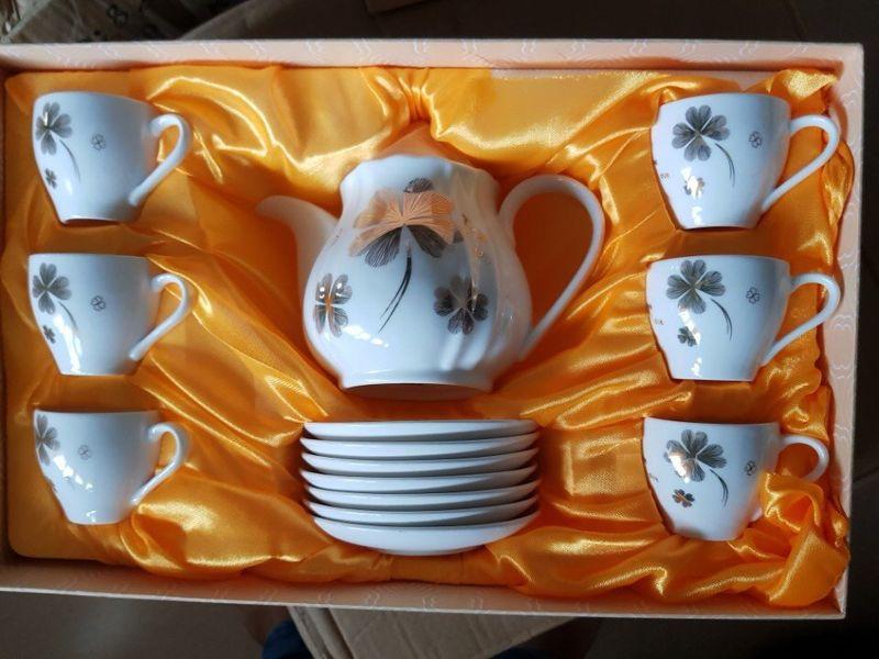 Bộ ấm trà gốm sứ cao cấp có đĩa giá sỉ, giá bán buôn