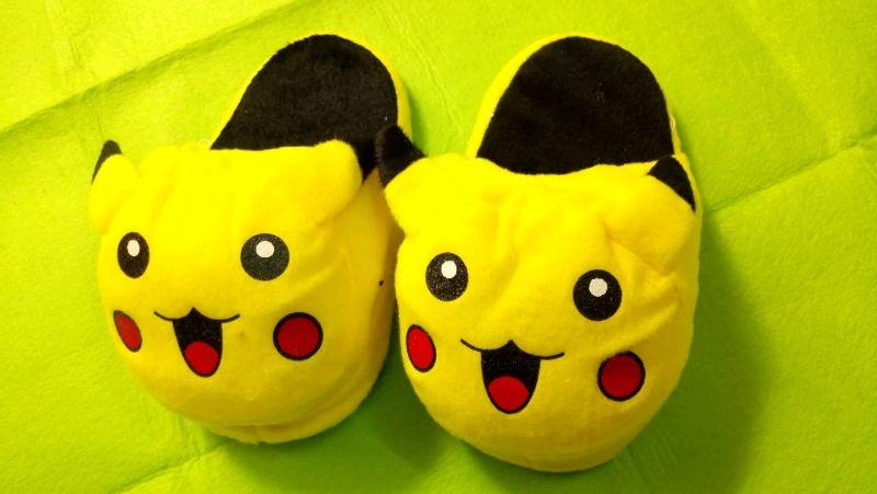 dép bông hình thú pikachu dép bông hình thú trẻ em dài 20cm giá sỉ, giá bán buôn