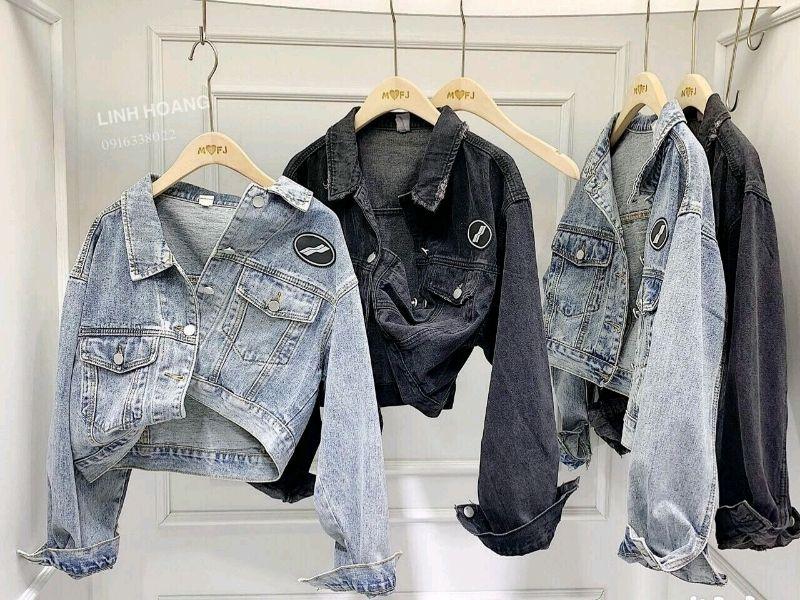 Áo khoác jean nữ croptop giá sỉ, giá bán buôn