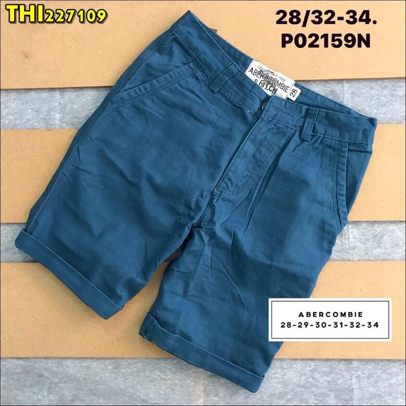 short kaki aber nai Size 28/32-34 P02159N chất liệu kaki wash