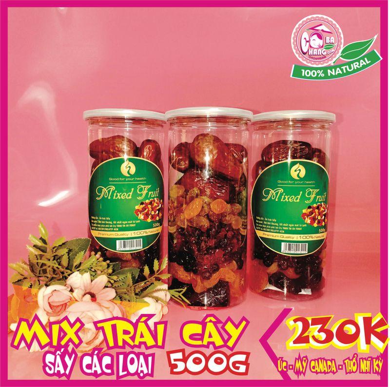 Mixed 7 loại trái cây sấy hũ 500g giá bán buôn bán sỉ