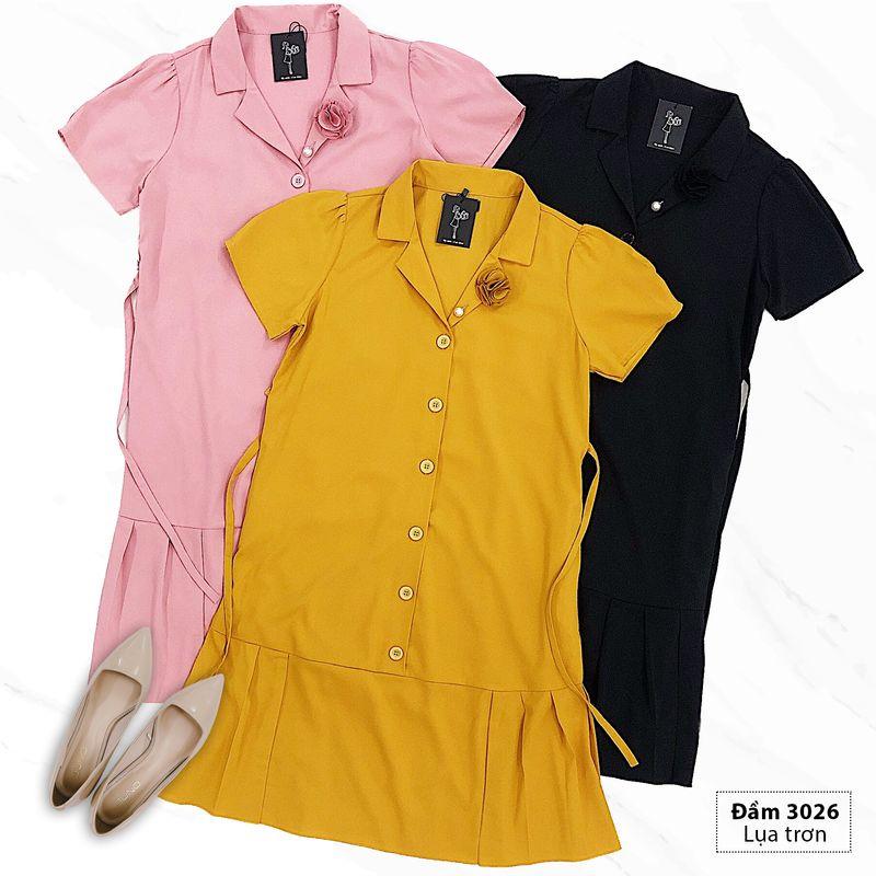 Đầm bầu công sở sang trọng 3026 giá sỉ, giá bán buôn