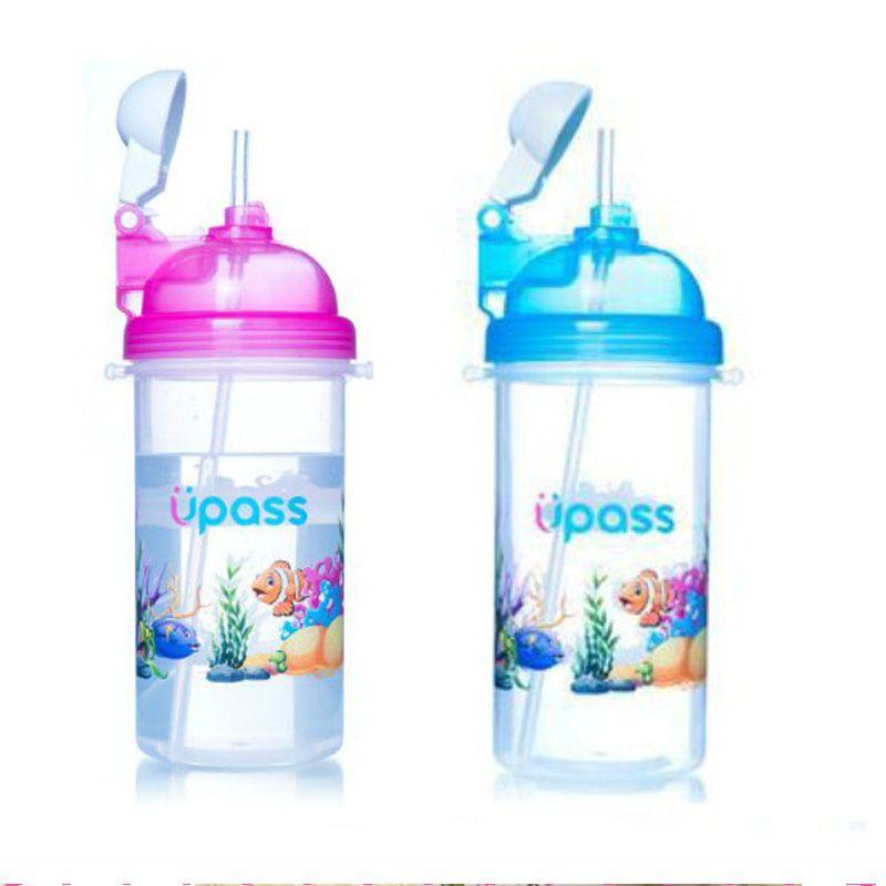 Bình uống nước cho bé đi học bật nắp Upass cá 420ml giá sỉ