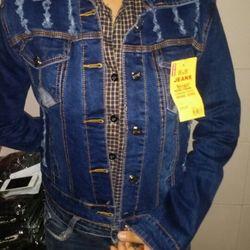 Áo khoác jean nữ ảnh thật 100%