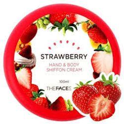 Kem dưỡng thể và da tay strawberry hand body shiffon cream the faceshop giá sỉ, giá bán buôn
