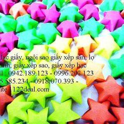 1000 ngôi sao giấy màu dạ quang chưa có hủ thủy tinh - quà tặng ý nghĩa lãng mạn tượng trưng cho 1 điều ước - 260000đ/1000sao giá sỉ