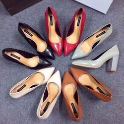 Dlgt7- giày gót trụ mũi nhọn cao 7cm giá sỉ