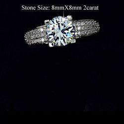 1314 nhẫn thời trang nữ mặt đá lấp lánh, phong cách hàn quốc sang trọng