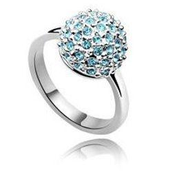 Nhẫn thời trang nữ mặt đá màu nổi bật, thiết kế xinh xắn