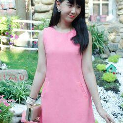 Đầm thiết kế - đầm suông 2 túi chân váy xếp ly-gt285