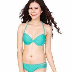 Đồ bơi bikini sắc xanh ngọc tươi mát