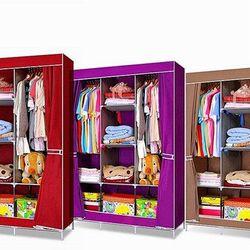 Tủ quần ao vải 8 ngăn 3 buồng