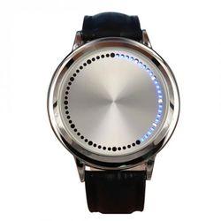 Đồng hồ led cảm ứng dây da chống nước giá sỉ