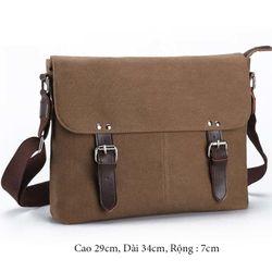 Túi đeo chéo vải bố cá tính v015 giá sỉ