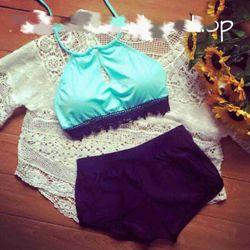 Sét bộ bikini áo yếm + quần