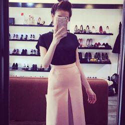 sb2225 set áo kết chuỗi váy dài xếp ly cực hot