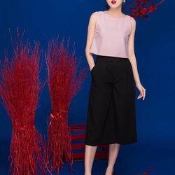 Sét áo croptop nơ lưng + quần lửng-gs071
