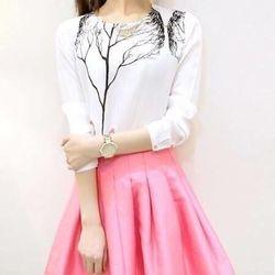 *sb2434* set áo vaon in cây khô +chân váy xòe