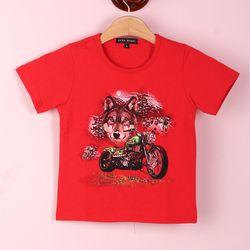 Áo bé trai-in 3d -chất cotton -giá 45k - 1 ri 4 cái