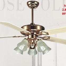 Đèn quạt trần trang trí-mn-6602 giá sỉ, giá bán buôn