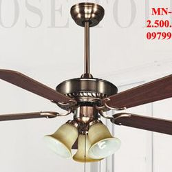 Quạt trần-đèn trang trí mn-6604 giá sỉ