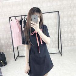 Váy Babydoll Neck Dress- hình chụp thật 100% giá sỉ