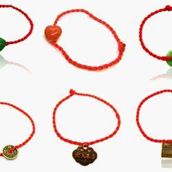 dây đỏ đeo tay may mắn kèm mặt dây sỉ 3k giá sỉ