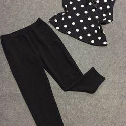 Bộ quần dài áo nơ đen hot hot